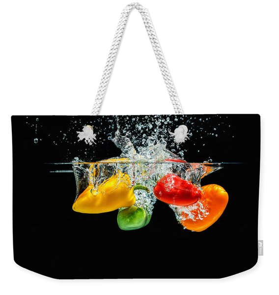 Splashing Paprika Weekender Tote Bag