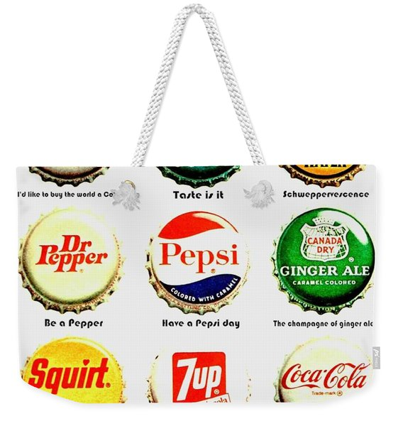 70s Soft Drink Slogans Weekender Tote Bag