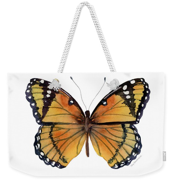76 Viceroy Butterfly Weekender Tote Bag