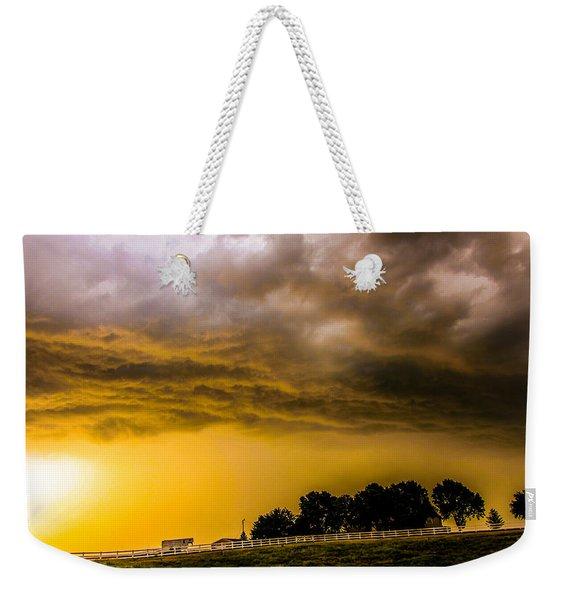 Late Afternoon Nebraska Thunderstorms Weekender Tote Bag