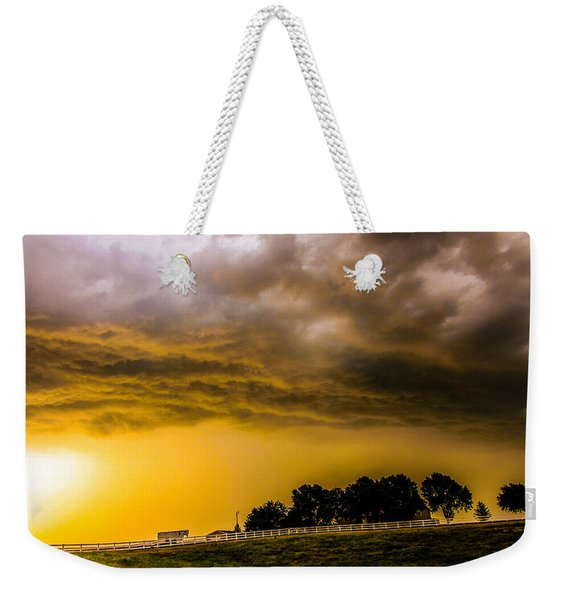 Weekender Tote Bag featuring the photograph Late Afternoon Nebraska Thunderstorms by NebraskaSC