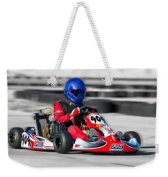 Racing Go Kart Weekender Tote Bag