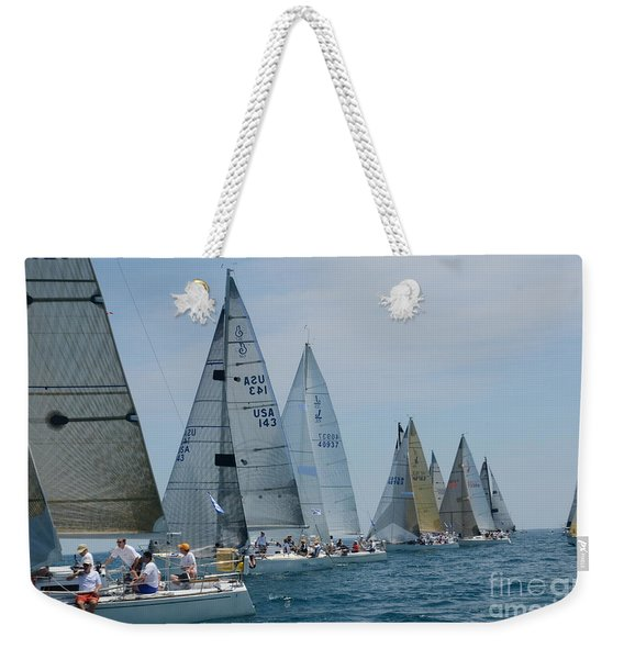 Sailboat Race Weekender Tote Bag