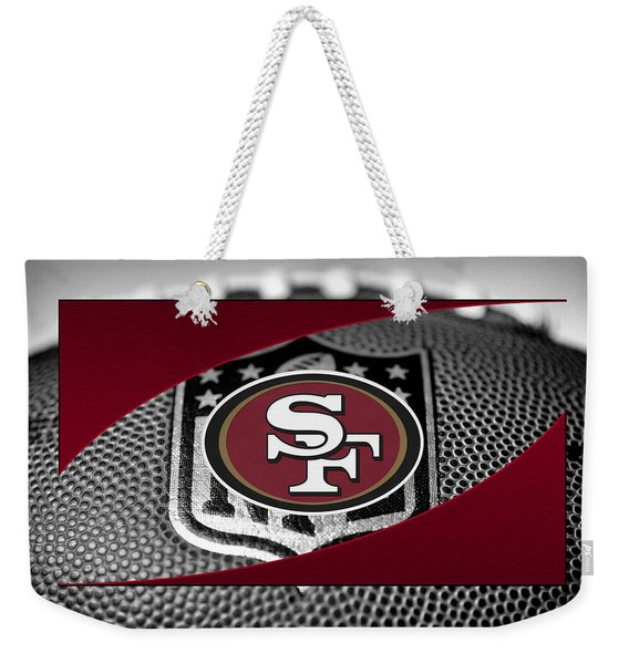San Francisco 49ers Weekender Tote Bag