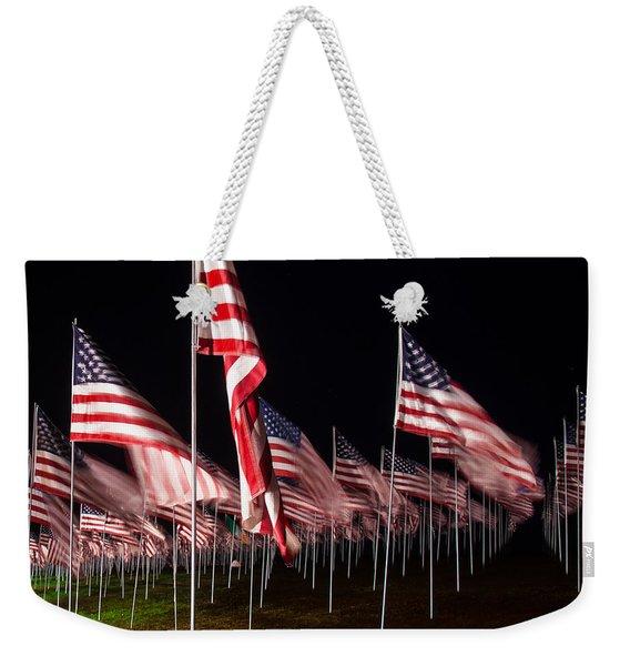 9-11 Flags Weekender Tote Bag