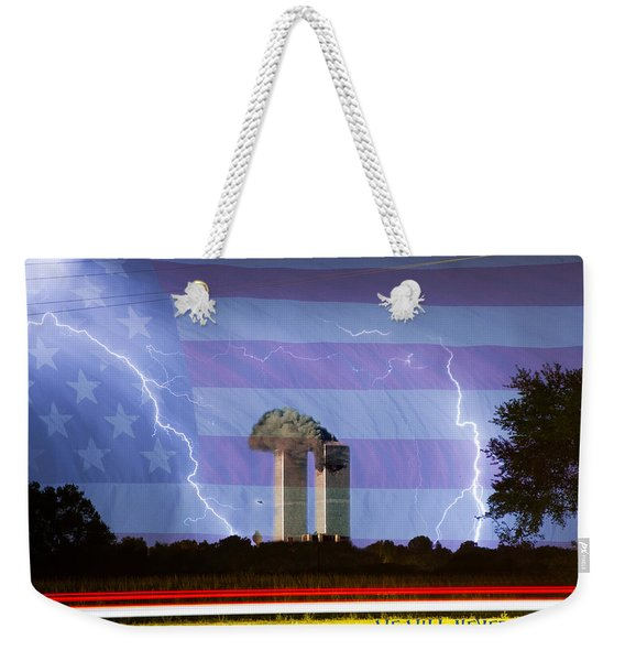 9-11 We Will Never Forget 2011 Poster Weekender Tote Bag