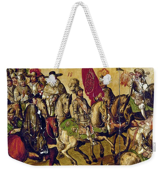 Hernando Cortes (1485-1547) Weekender Tote Bag