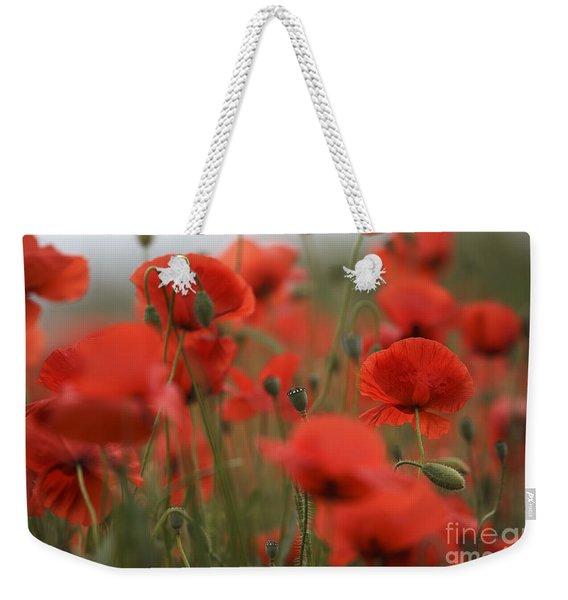 Red Weekender Tote Bag