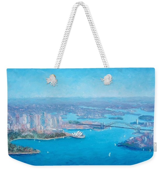 Sydney Harbour And The Opera House Aerial View  Weekender Tote Bag