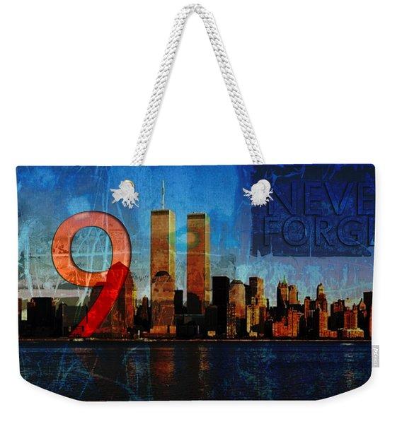 911 Never Forget Weekender Tote Bag