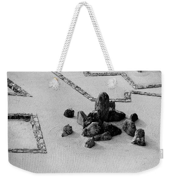 A Aerial View Of A Zen Rock Garden Weekender Tote Bag