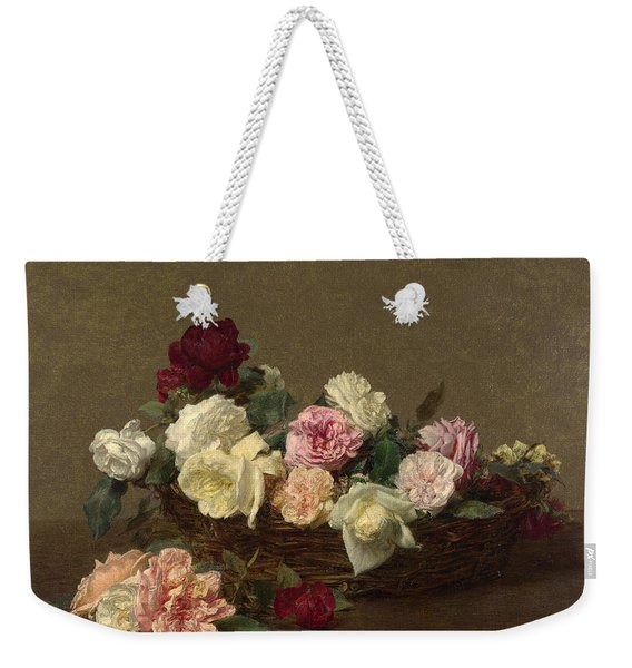 A Basket Of Roses Weekender Tote Bag