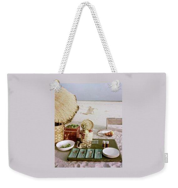 A Beach Picnic Weekender Tote Bag