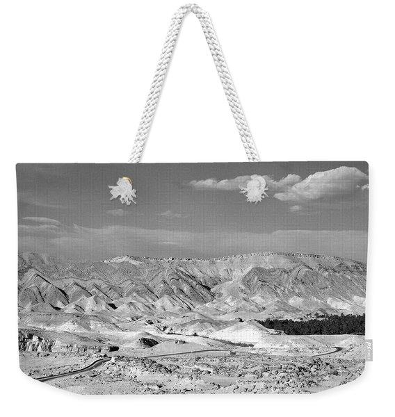 A Black And White Landscape Weekender Tote Bag
