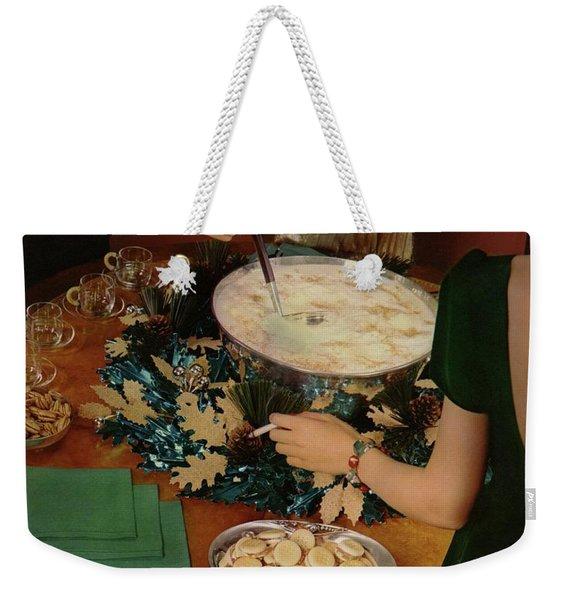 A Bowl Of Eggnog Weekender Tote Bag