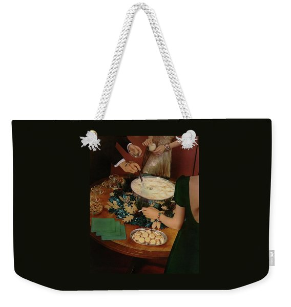 A Bowl Of Eggnog Weekender Tote Bag