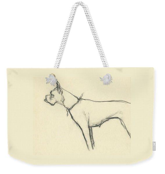 A Boxer Dog Weekender Tote Bag