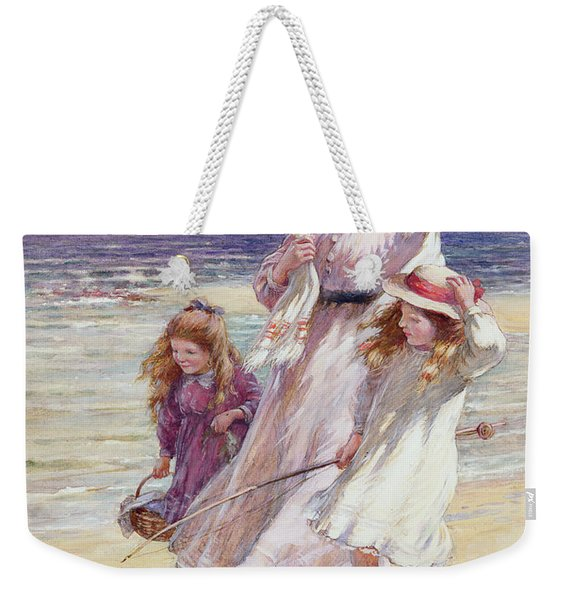 A Breezy Day At The Seaside Weekender Tote Bag