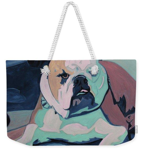 A Bulldog In Love Weekender Tote Bag