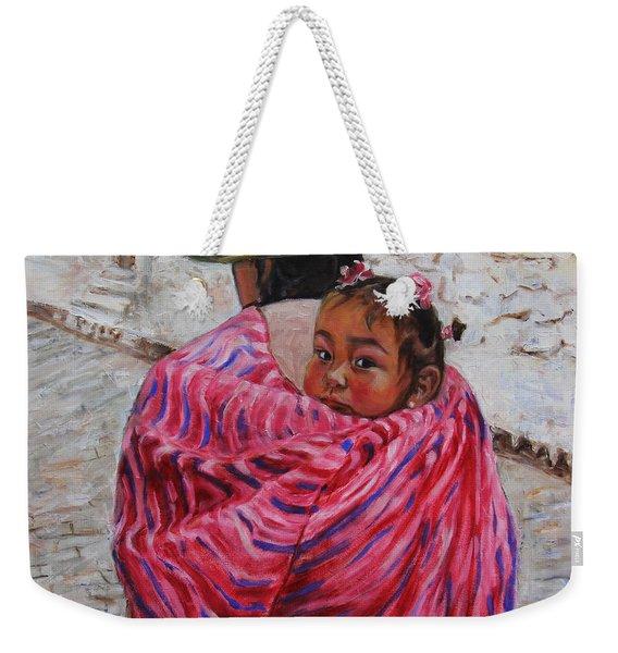 A Bundle Buggy Swaddle - Peru Impression IIi Weekender Tote Bag