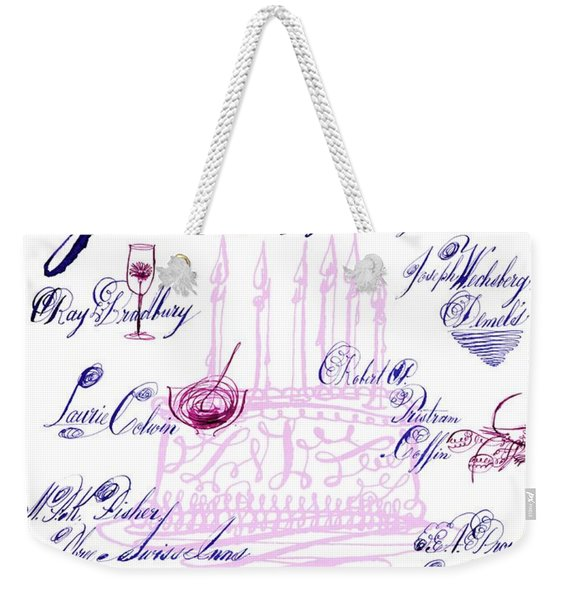 A Calligraphy Illustration Celebrating Sixty Weekender Tote Bag
