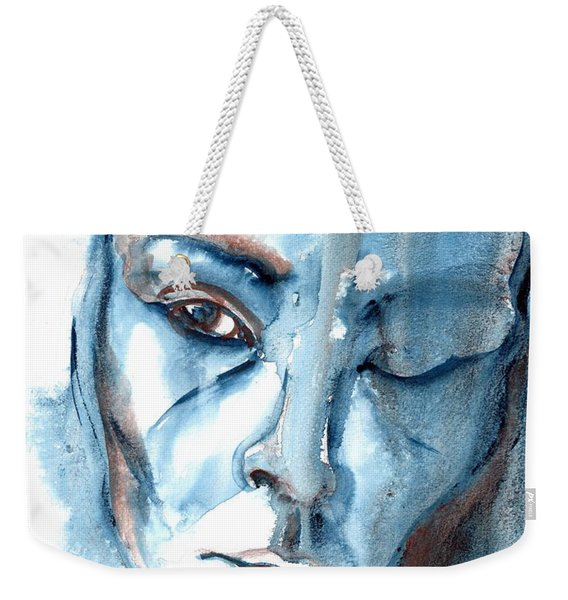 Weekender Tote Bag featuring the painting A Case Of You by Ashley Kujan