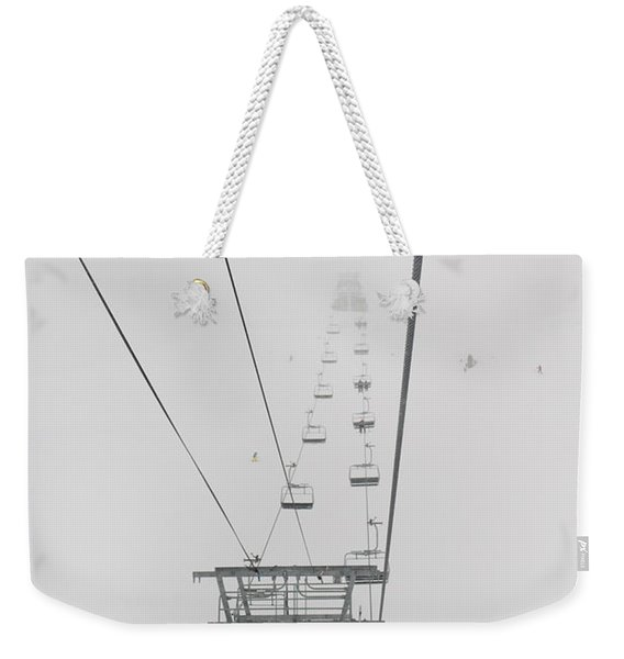 A Chairlift At A Ski Resort Whistler Weekender Tote Bag