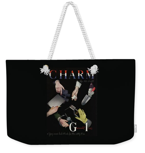 A Charm Cover Of Women's Hands Reaching For Tools Weekender Tote Bag