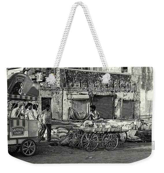 A Chat Among Friends Weekender Tote Bag