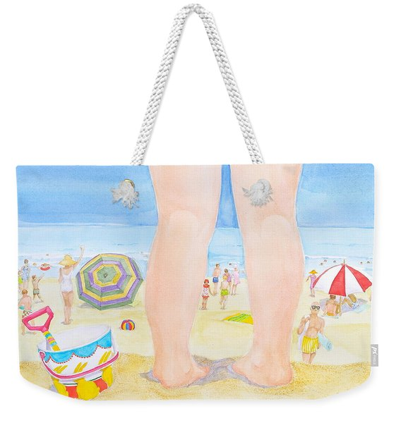 A Child Remembers The Beach Weekender Tote Bag