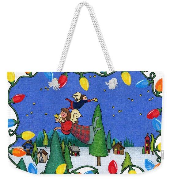 A Christmas Scene Weekender Tote Bag