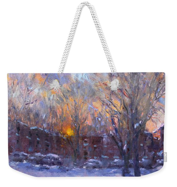 A Cold Winter Sunset  Weekender Tote Bag