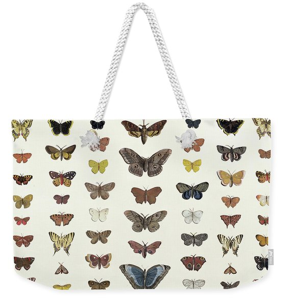 A Collage Of Butterflies And Moths Weekender Tote Bag