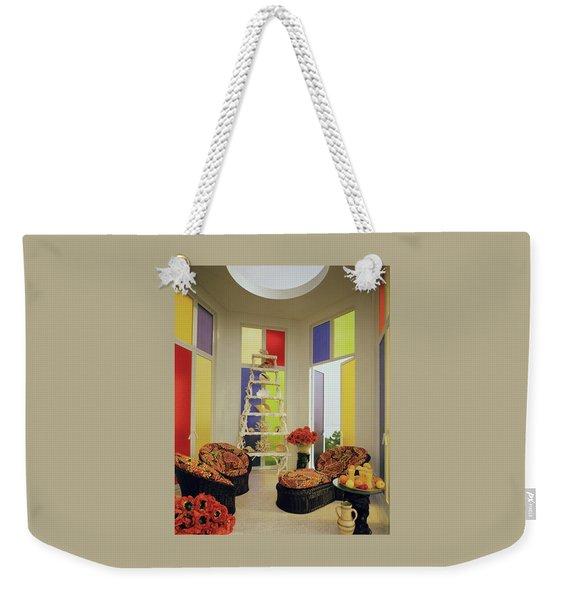 A Colorful Living Room Weekender Tote Bag