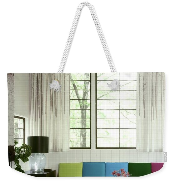 A Colourful Living Room Weekender Tote Bag