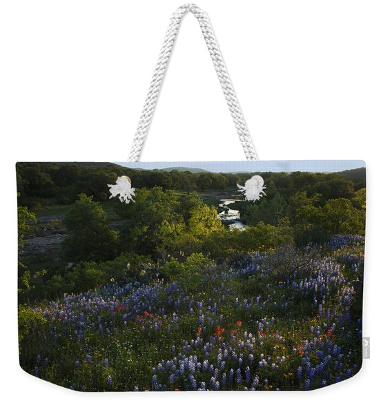 A Creek In Llano County  Weekender Tote Bag