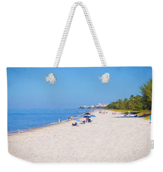A Day At Naples Beach Weekender Tote Bag