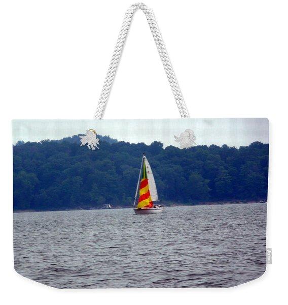 A Day At The Lake Weekender Tote Bag
