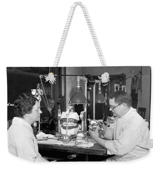 A Dentist Articulates Weekender Tote Bag