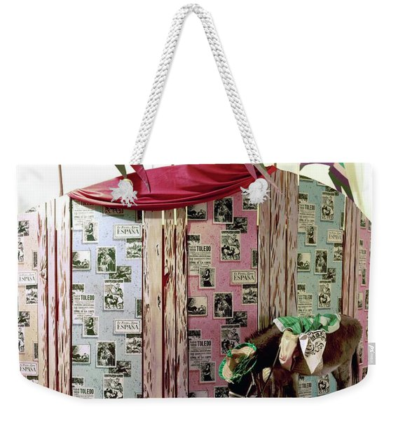 A Donkey Standing By A Small Wooden Wall Weekender Tote Bag