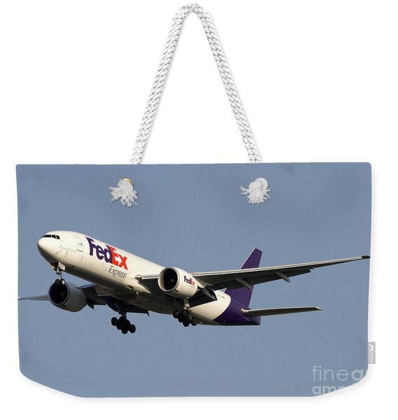 A Federal Express Boeing 777f Cargo Weekender Tote Bag