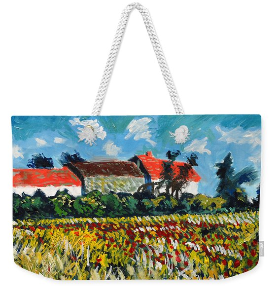 A Field In France Weekender Tote Bag