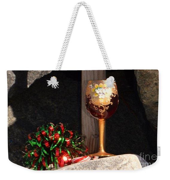 Weekender Tote Bag featuring the photograph A Fine Beach Christmas by Laurie Lundquist