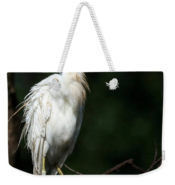 A Fluffed Cattle Egret Weekender Tote Bag