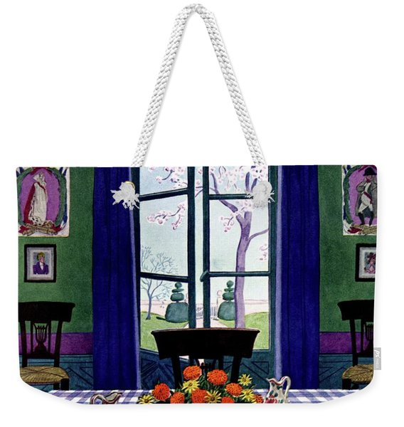 A French Provincial Dining Room Weekender Tote Bag