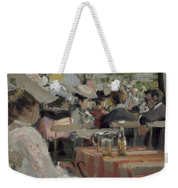A Garden Restaurant Weekender Tote Bag