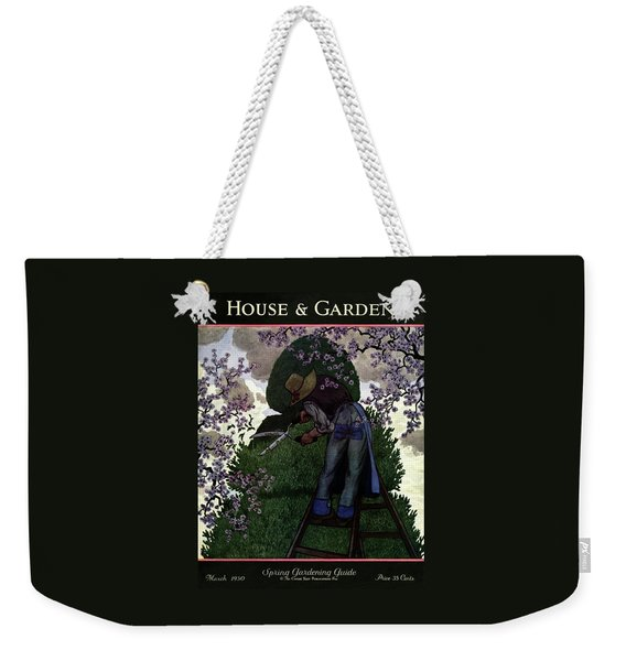A Gardener Pruning A Tree Weekender Tote Bag