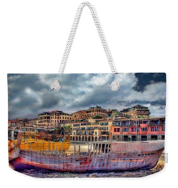 A Genesis Sunrise Over The Old City Weekender Tote Bag