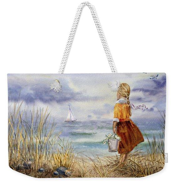 A Girl And The Ocean Weekender Tote Bag