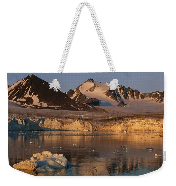 A Glacier Flowing Into A Fjord Weekender Tote Bag